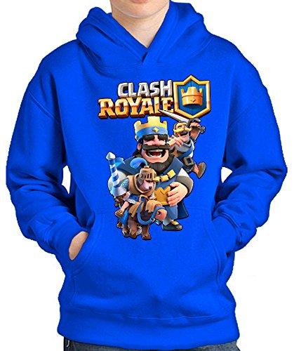 SUDADERA Clash Royale Rey (10-12-13 AÑOS, Azul)