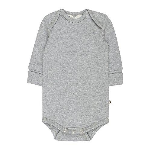 Müsli by Green Cotton Cozy me l/SL Body, Gris (Pale Greymarl 207670000), 3 Ans Bébé Fille