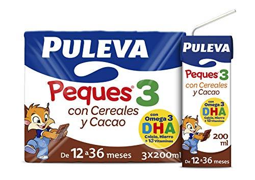 Puleva Peques Leche Infantil de Crecimiento con Cereales Tipo 3 - Pack de 3 x 200 ml - Total: 600 ml