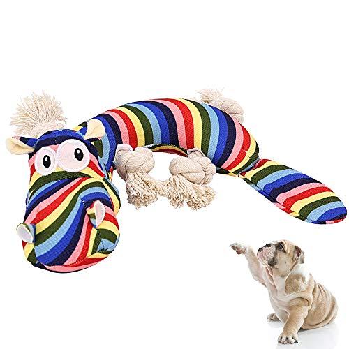 Hündchen Kauen Spielzeug Zahnen Training Buntes Nilpferd Seil Spielzeug Langlebiges interaktives Weihnachtsspielzeug Geschenk für kleine Hunde…