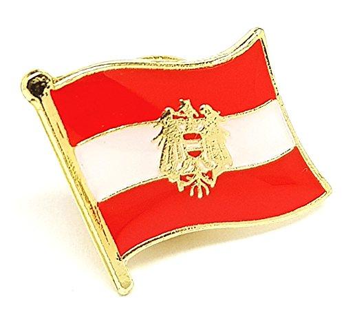 Shopiyal Broche con diseño de Bandera de Austria con Escudo de águila, esmaltado de Metal
