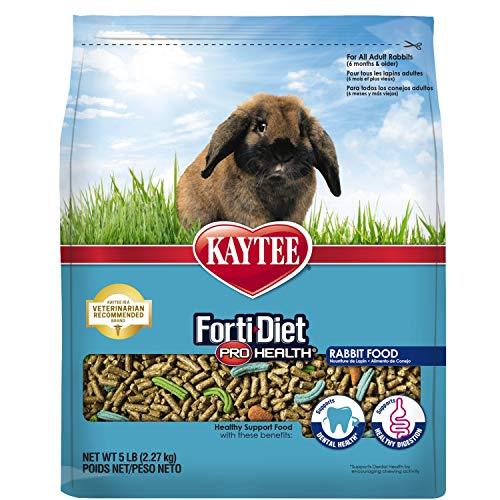 Kaytee Forti-Diet Pro Health Adult Rabbit Food, 5-Lb Bag