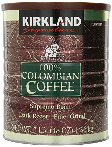 KIRKLAND SIGNATURE 100% Colombian 3 Pound coffee, 48 Ounce