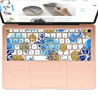 igsticker MacBook Air 13inch 2018 専用 キーボード用スキンシール キートップ ステッカー A1932 Apple マックブック エア ノートパソコン アクセサリー 保護 014013 雪 結晶