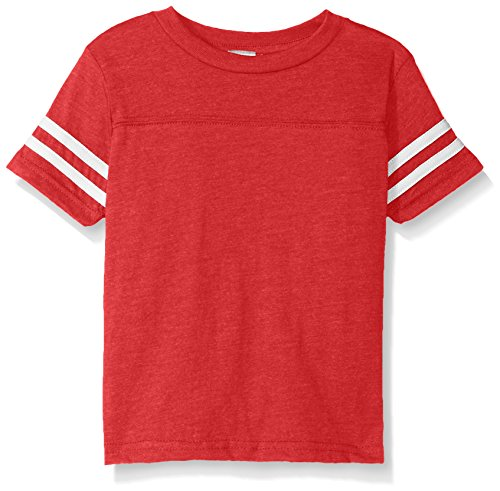 Clementine Kids Toddler Football Fine Jersey T-Shirt, VN RED/BLD White, 5/6