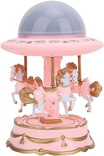 Nitrip スタープロジェクターライト オルゴール スターナイトライト タイマー プロジェクター ロマンチック雰囲気作り 女の子・彼女に誕生日プレゼント ギフト(ピンク)