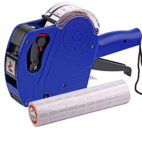 ASIBT MX5500 EOS Blue 8 Digits Pricing Gun Kit with 7,000 Labels & Spare Ink