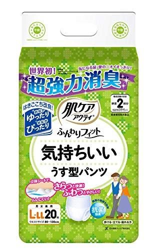 日本製紙クレシア『アクティ肌ケアふんわりフィット気持ちいいうす型パンツ』