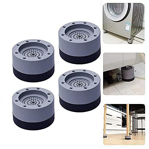 4Pcs Universal Washing Machine Foot Pads,Anti Vibration Washing Machine Support,Noise Reducing and Anti Slip Anti Vibration Rubber Feet Pads