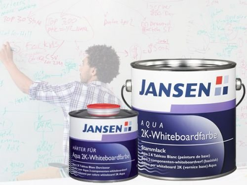 Jansen Aqua 2K-Whiteboardfarbe weiß sdgl. 2,36kg