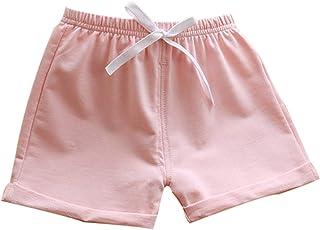 Blotona Toddler Boy Girl Summer Casual Cotton Shorts Kids Drawstring Casual Short Unisex