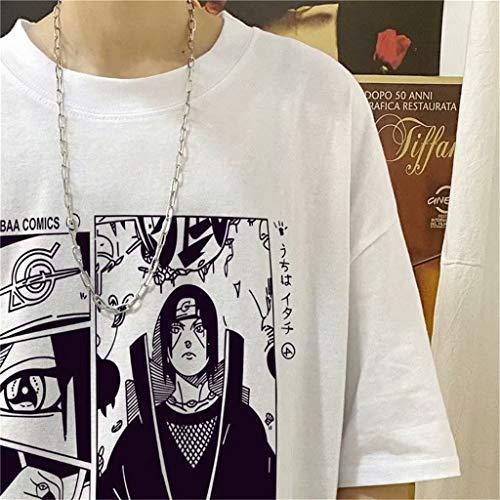 Tshirt Animazione Maniche Corte T-Shirt Tops Uchiha Sasuke Itachi Camicia Cosplay Maglietta per Uomo Donna