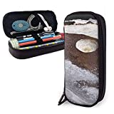 XCNGG Estuche para lápices neceser Walking On Mars Variety Face Towel Leather Pencil Case Pouch Zippered Pen Box School Supply For Students Big Capacity Stationery Box Travel Makeup Pouch Bag