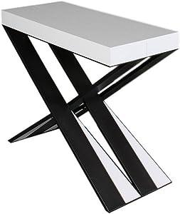 Group Design: consola Diago, mesa extensible blanca de fresno en madera para recibidores PA-CO/46-BF