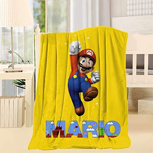 178 Super Ma-Rio - Manta para el hogar, sofá, cama, suave, cálida, cama individual, 60 x 80 pulgadas