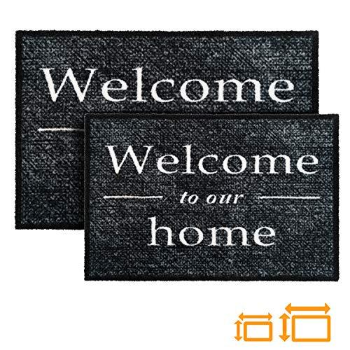 GadHome Welcome Felpudo Puerta Interior Exterior 40x60cm