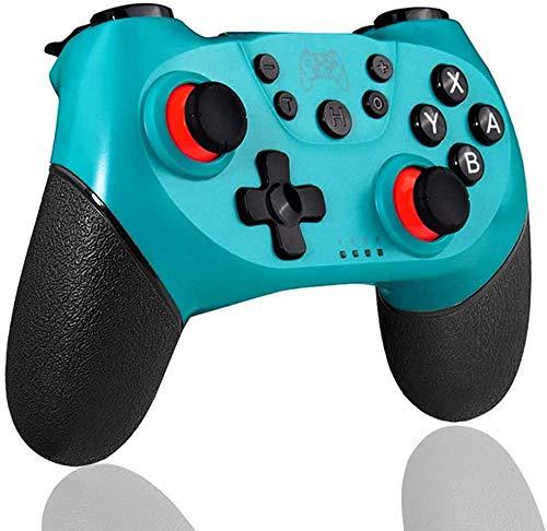 RUNMIND Bluetooth Wireless Controller, Game Joystick, NS Pro 6-Achs-Somatosensorischer Wireless-Controller Mit Vibration, Geeignet Für Verschiedene Schießspiele Und Verschiedene Terminalspiele,Blau