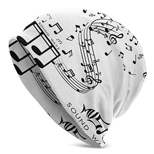 XDZ8JA Gorra de Calavera Notas Musicales abstractas On Line...