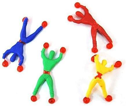TuDu 6Pcs Jouet Window Crawler/Wall Walker Sticky Wall Walkers, Sticky Men,Escalade Homme Style Education Jouets pour Enfants Bébé avec Couleur aléatoire
