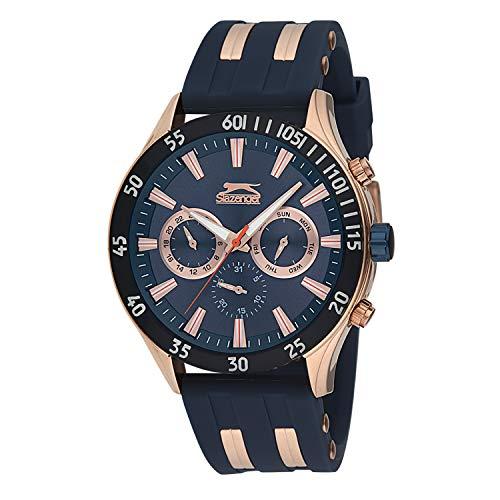 Reloj para Hombre Color Azul Slazenger multifuncion con Correa de Caucho Azul SL.09.6076.2.02