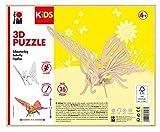 Marabu 0317000000020 - Puzzle de Madera (16 Piezas), diseño de Mariposas 26 x 19 cm, Color marrón