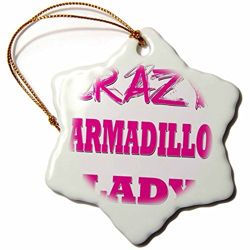 cwb2jcwb2jcwb2j 3-Inch Porcelain Snowflake Decorative Hanging Ornament, Blonde Designs Crazy Thumb Pointing Back Lady - Crazy Armadillo Lady