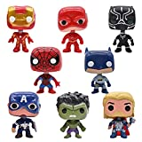Decoración de Tartas Hilloly 8 piezas Superhéroes Cake Topper Spiderman MiniFigures Figura de Decoración de Pastel de Cumpleaños Baby Shower Birthday Party Decoración para Hornear para Niños