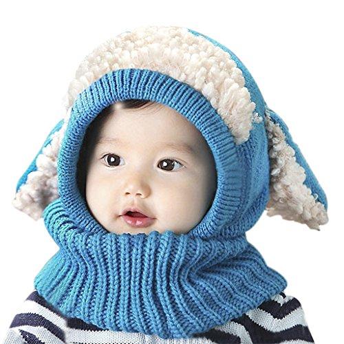 Peuters Winter Hoed Sjaal Set Baby Oorflap Coif Hood Sjaals Schedel Cap Warm Gebreide Hoofddeksels Nek Wraps met Leuke Oren Kids Outdoor Dikke Gehaakte Katoen Snood Sjaal Xmas Gift