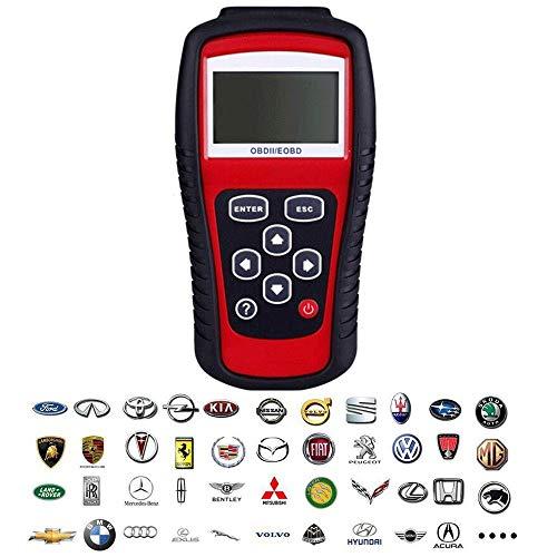 Automatische OBDII/EOBD-codelezer, geschikt voor Amerikaanse en Aziatische voertuigen, het kan alleen voertuigen met 12 V benzine herkennen en ondersteunt meerdere talen.