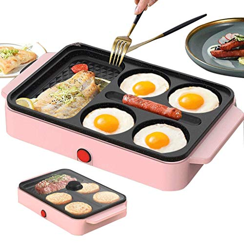 AMYZ 3 In 1 Sandwich Toasters & Panini Presses,Non-Stick Pan Burger Machine,Small Four-Hole Omelette Artifact Pancake Pan Mould 4D Diamond Section 1200W