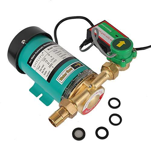 SHYLIYU 120W Pompa di Circolazione Pompa dell Acqua Calda Pompa Booster Pompa dell acqua Domestica Auto Manuale Regolabile Per Doccia E Giardino Pompa, 1500l   H 15m