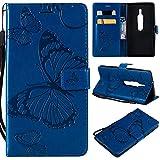 Aralinda Étui portefeuille en cuir synthétique avec support et dragonne pour Sony Xperia XZ2...