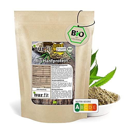 nur.fit by Nurafit BIO Hanfprotein-Pulver 500g – Hanfeiweiß Pulver aus kontrolliert biologischem Anbau mit 50{3f41977dbae8fe43fb3b9bb49e123e0bac9367f28f9b1ad08a7c43fd986dd461} Proteingehalt - natürliches veganes Proteinpulver ohne Zusatzstoffe – vegan Protein