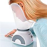 Medisana FSS Sauna Facial, Vaporizador de Cara, Limpieza Profunda de los Poros con Adaptador para la Nariz para el Cuidado de la Cara, Blanco/Gris