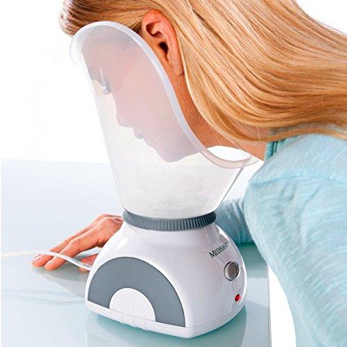 Medisana FSS Gesichtssauna, Gesichtsdampfer, porentiefe Gesichtsreinigung mit Nasenaufsatz für die Gesichtspflege