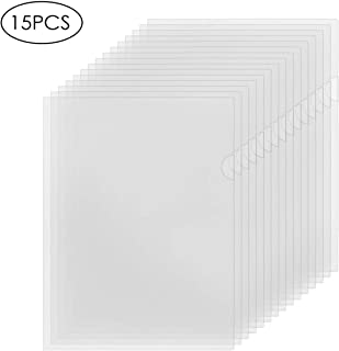 YoeeJob Clear Document Folders Plastic Paper Sheets Sleeves L Paper Cover Transparent Page Protector A4 Letter Size,15 Packs