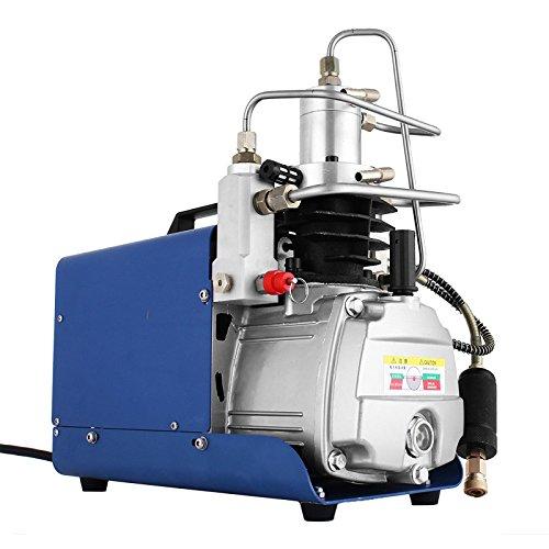 Smarketbuy 30MPa Adjustable Auto-Stop 110V Electric Air Compressor Pump High Pressure Airgun Compressor Rifle PCP Inflator Air Pump (30Mpa Adjustable Auto-Stop)