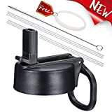 Vmini Straw Lid, Compatible with Hydro Flask Wide Mouth Water Bottle and More, Wide and Rotating...