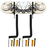 YYST Skateboard Wall Rack Skateboard Wall Mount - No Board - Show Off Your Board