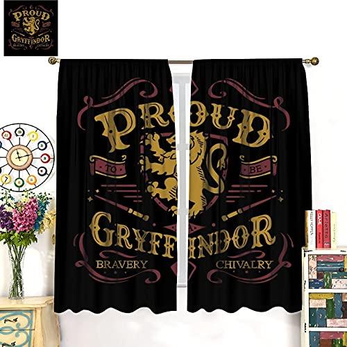 STTYE Dekovorhänge, kreative Vorhänge, personalisierte Vorhänge, Harry_Potter Gryffindor-Gardine,...