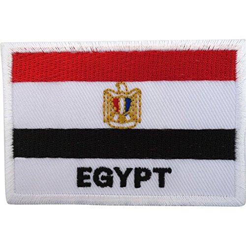 Egipto bandera parche hierro/sew egipcio bordado Badge