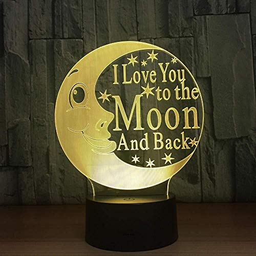 3D Slideshowcolor Dragon Moon goede nacht koptelefoon LED kleurverloop sfeerlicht acryl nachtlampje @ AB-B