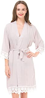 robes with lace trim