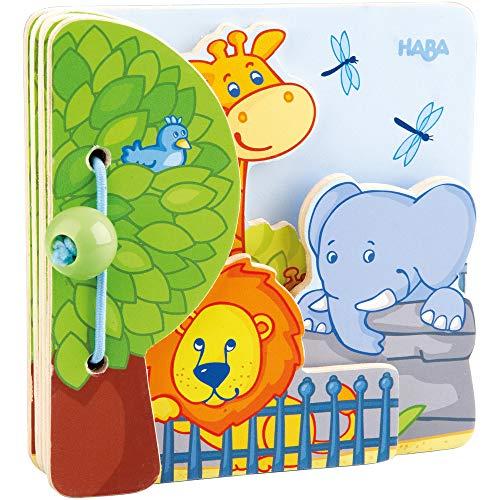 HABA- Livre pour Bébé Les Amis du Zoo, 300129