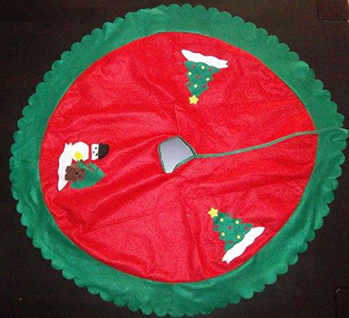 Weihnachts-Christ-Baum-Deko-Schutz-Teppich-Unterlage Durchmesser ca. 80cm vom Sachsen Versand