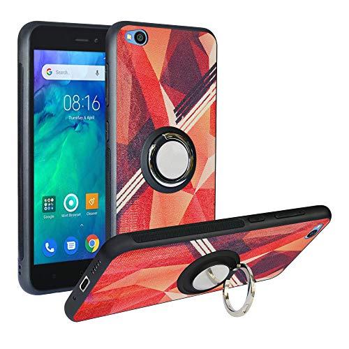 Funda para Xiaomi Redmi Go, Fashion Design [Antigolpes] con 360 Anillo iman Soporte, Resistente a los arañazos TPU Funda Protectora Case para Redmi Go Cover,Rose Red