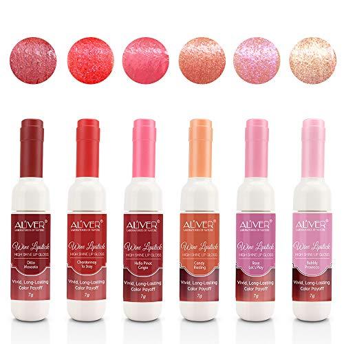 6 PCS NUOVA versione set di rossetti liquidi lucidi, macchie di labbra impermeabili a lunga durata, regalo di compleanno per amanti del trucco