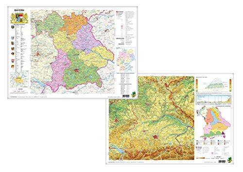 Bayern physisch/politisch - DUO-Schreibunterlage klein