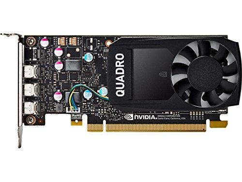 HP NVIDIA Quadro P400 Grafikkarte mit 2 GB - Grafikkarten (2 GB, GDDR5, 64 Bit, 5120 x 2880 Pixel, PCI Express 3.0)