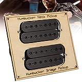 XiangXin Pastilla Resistente a la Herrumbre y Duradera, Pastilla de Puente Humbucker, bajo de violín para Guitarra casera